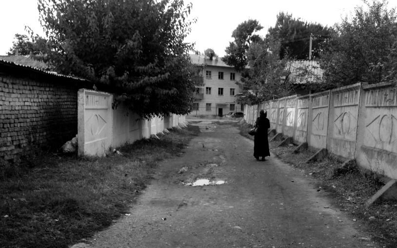 2014-06-12 Kyrgyz City Sidewalk (wp)