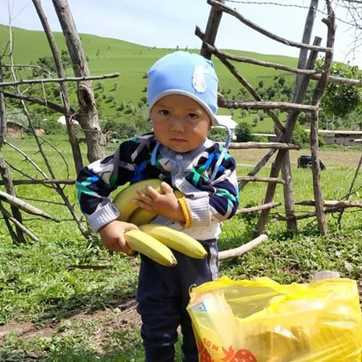Boy With Banana (square) (wp)