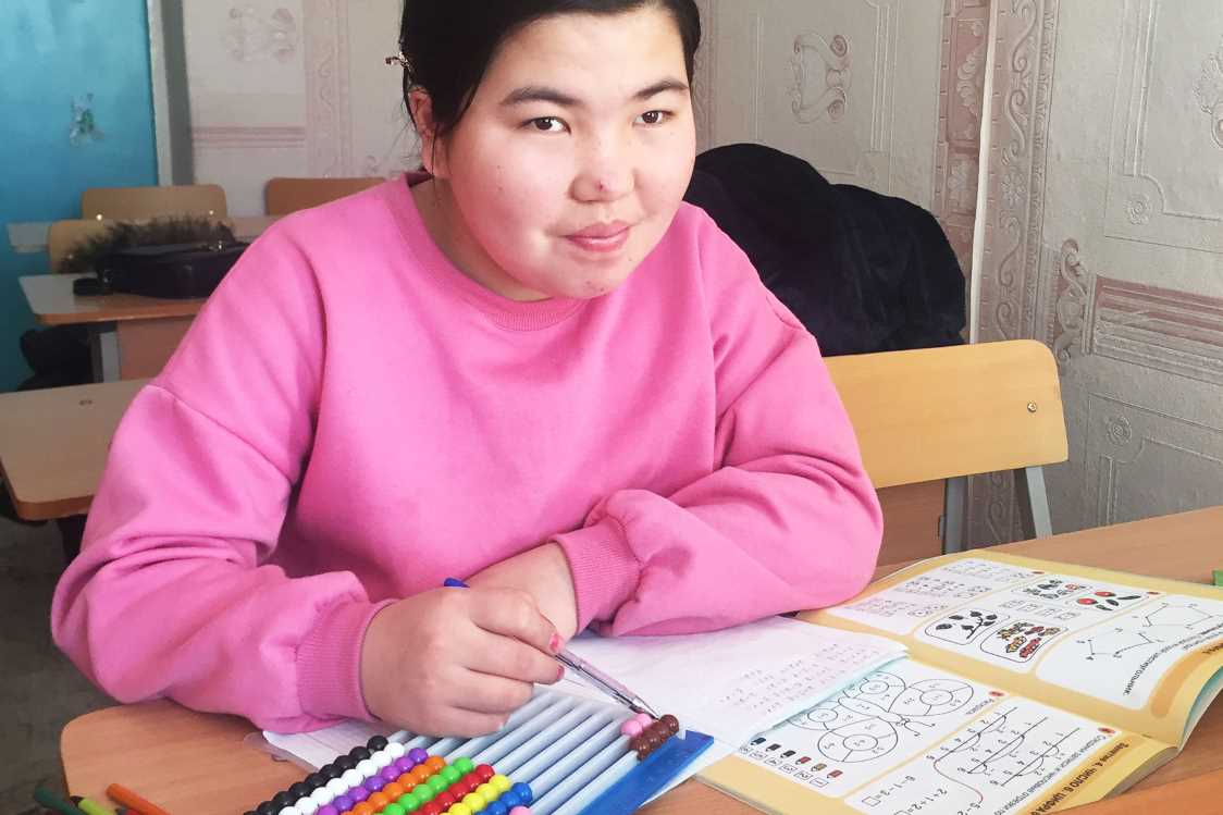 Special Girl Learning in School (wp)